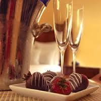champagne& strawberries